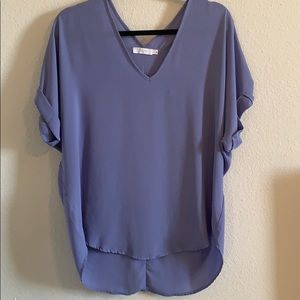 Lavender short sleeve lush blouse